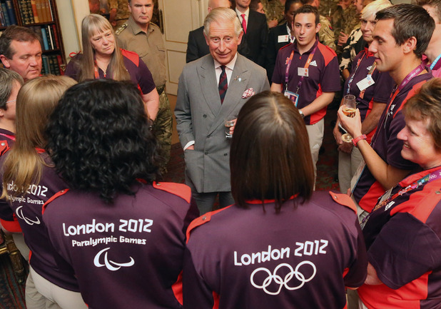 HRH Prince Charles meets London 2012 Gamesmakers at a special reception, September 2012