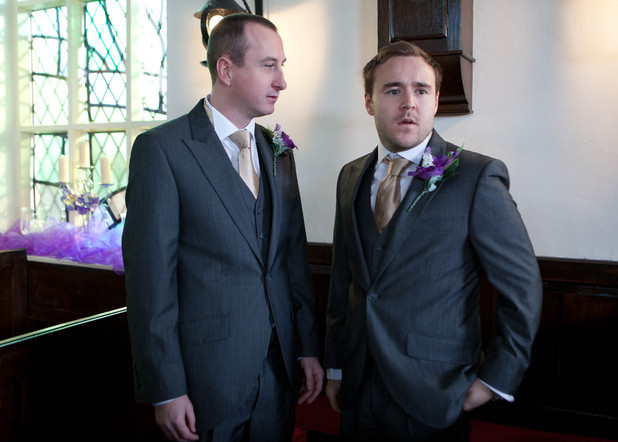 Corrie: Tyrone and Kirsty wedding