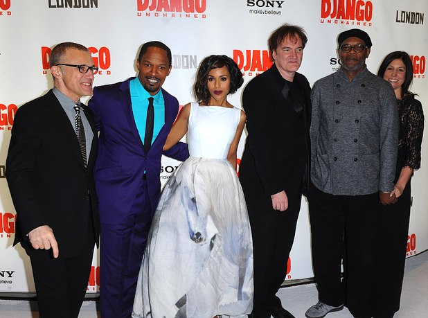 Django Unchained UK premiere: Christoph Waltz, Jamie Foxx, Kerry Washington, Quentin Tarantino and Samuel L. Jackson