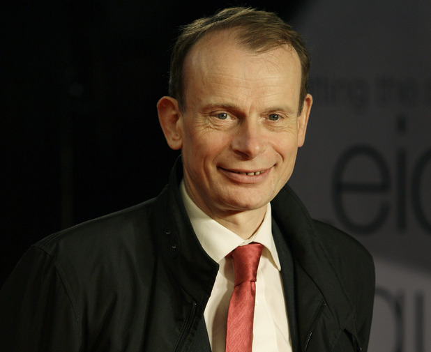 British presenter Andrew Marr arrives on the red carpet for the European Premiere of Brighton at a cinema in central London, Tuesday, Feb. 1, 2011.