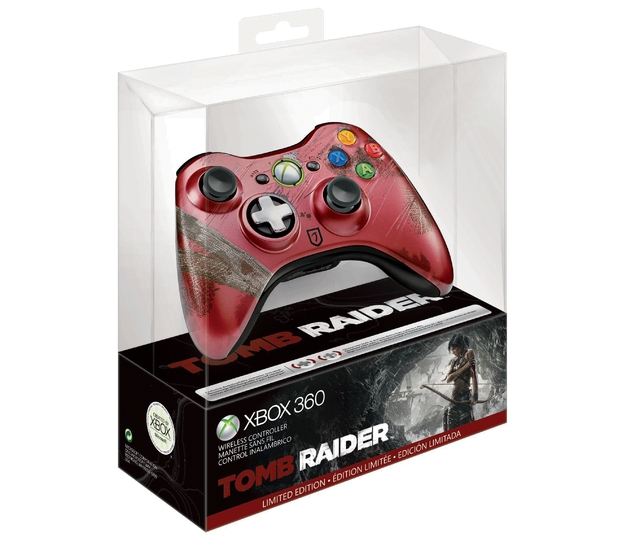 Xbox 360 controller for 'Tomb Raider' with box