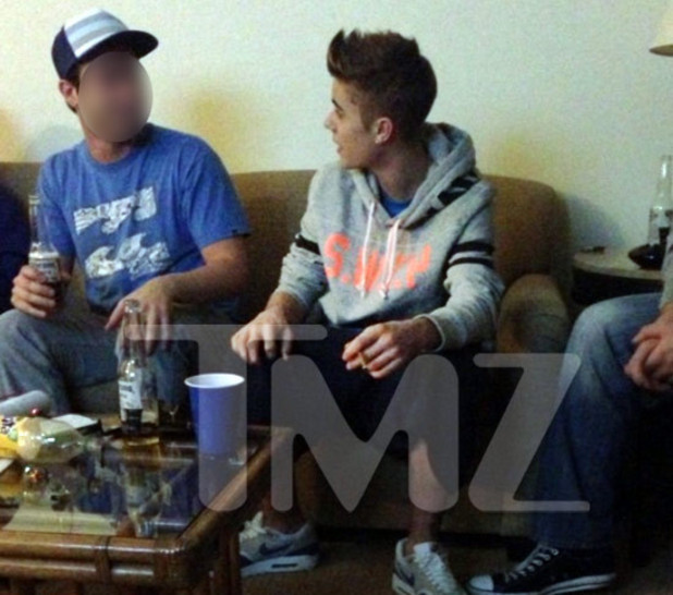 Justin Bieber snapped smoking marijuana