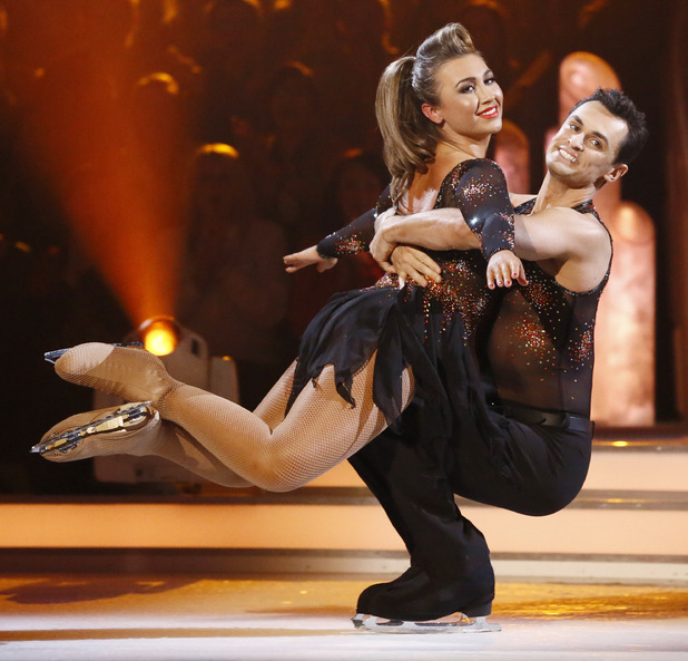 Dancing on Ice Week 2: Lauren and Michael.