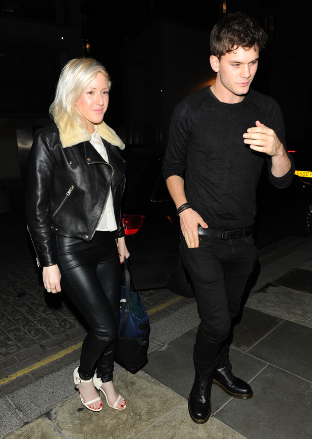 Ellie Goulding and Jeremy Irvine arrive at Zuma restaurant Featuring: Ellie Goulding, Jeremy Irvine Where: London, England