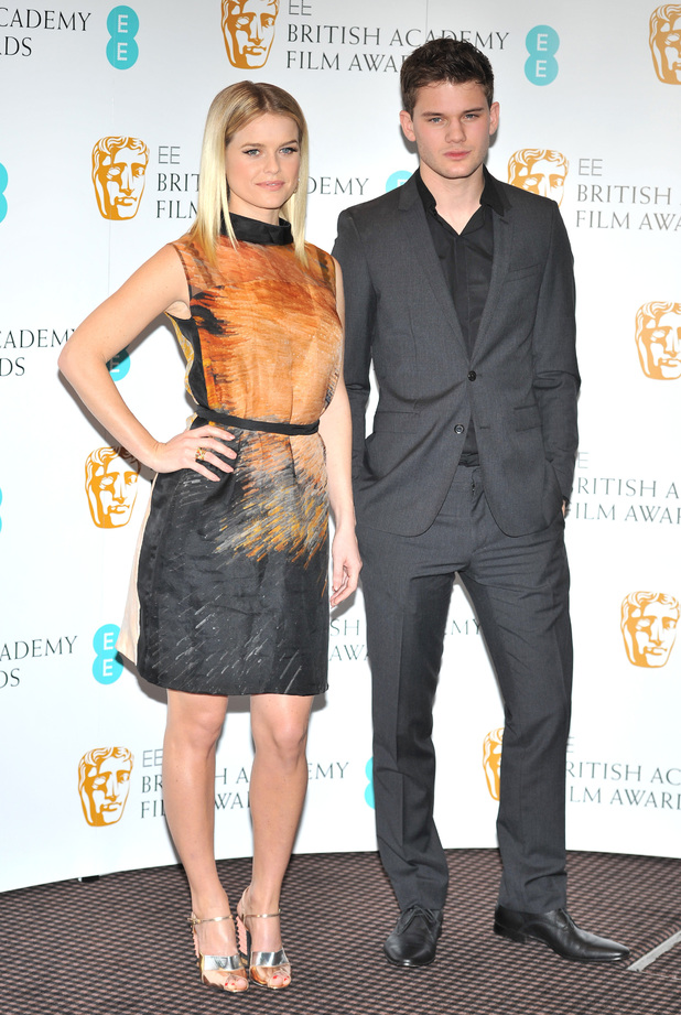 Alice Eve, Jeremy Irvine, EE British Academy Film Awards in 2013 Nominations held at BAFTA Piccadilly