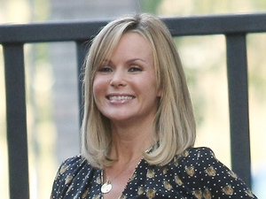 Miss Mode: Amanda Holden at the ITV studios London, England - 09.10.12 Mandatory Credit: WENN.com