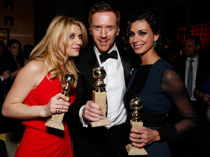 'Homeland's Claire Danes, Damian Lewis and Morena Baccarin at the FOX Golden Globes aftershow party