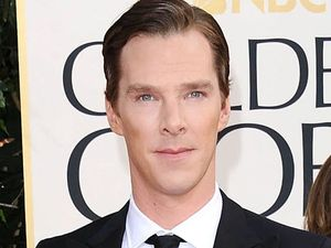 Benedict Cumberbatch arriving at the 70th Annual Golden Globe Awards 2013 in Los Angeles 