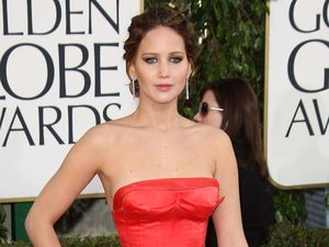 Jennifer Lawrence arriving at the 70th Annual Golden Globe Awards 2013 in Los Angeles