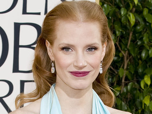 Jessica Chastain arriving at the 70th Annual Golden Globe Awards 2013 in Los Angeles