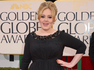 Adele arriving at the 70th Annual Golden Globe Awards 2013 in Los Angeles