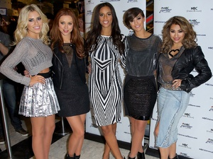 'The Saturdays' sign autographs and meet fans to promote their new series on E! 'Chasing The Saturdays.' Featuring: Mollie King,Una Healy,Rochelle Humes,Frankie Sandford,Vanessa White Where: New York, United States