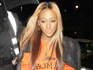 Alexandra Burke enjoys a night at Aura, London.
