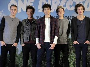 One Direction promote their second album &quot;TAKE ME HOME&quot; in Tokyo.