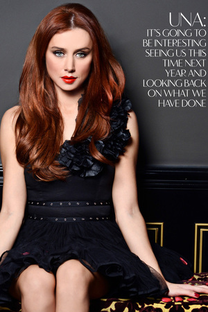 Una Healy of The Saturdays poses for Glamoholic.