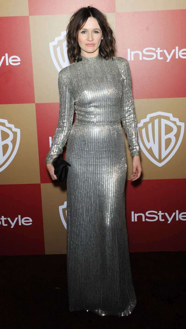 InStyle And Warner Bros. Golden Globe After Party at The Beverly Hilton Hotel - Arrivals Featuring: Emily Mortimer Where: Beverly Hills, California, United States When: 13 Jan 2013