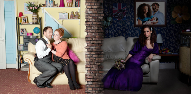 Coronation Street promotional shot - Kirsty and Tyrone's wedding