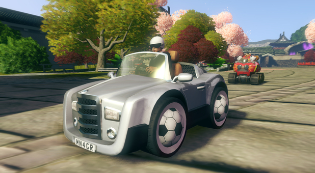 Football Manager's 'Manager Man' in 'Sonic: All-Stars Racing Transformed'