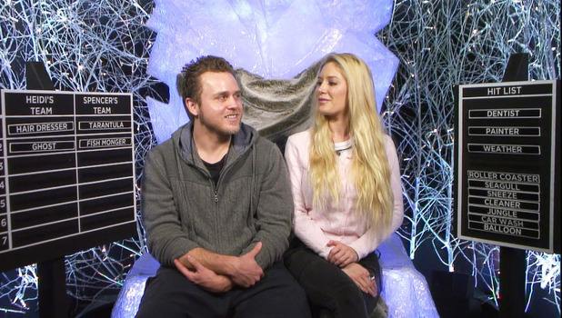Heidi Montag and Spencer Pratt doing task during CBB