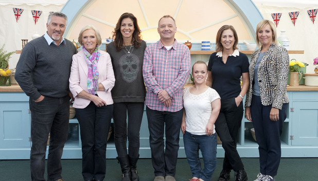 The Great Comic Relief Bake Off: Paul Hollywood, Mary Berry, Julia Bradbury, Bob Mortimer, Ellie Simmonds, Kirsty Wark, Mel Giedroyc