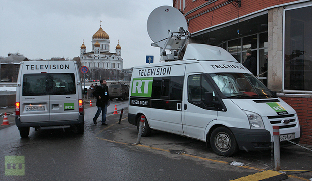 Russia Today vans
