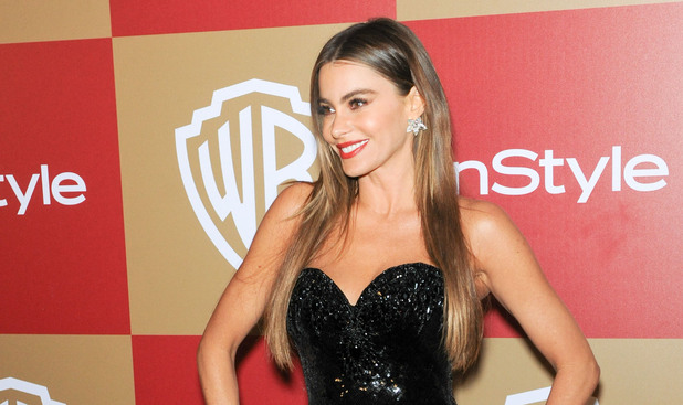 InStyle And Warner Bros. Golden Globe After Party at The Beverly Hilton Hotel - Arrivals Featuring: Sofia Vergara Where: Beverly Hills, California, United States When: 13 Jan 2013