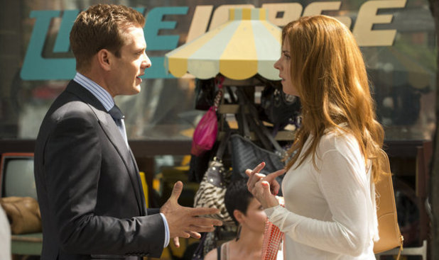 Sarah Rafferty and Gabriel Macht in 'Suits'
