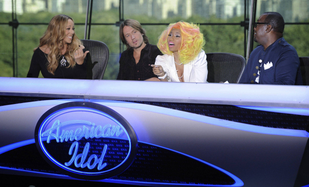American Idol S12E01: Mariah Carey, Keith Urban, Nicki Minaj and Randy Jackson