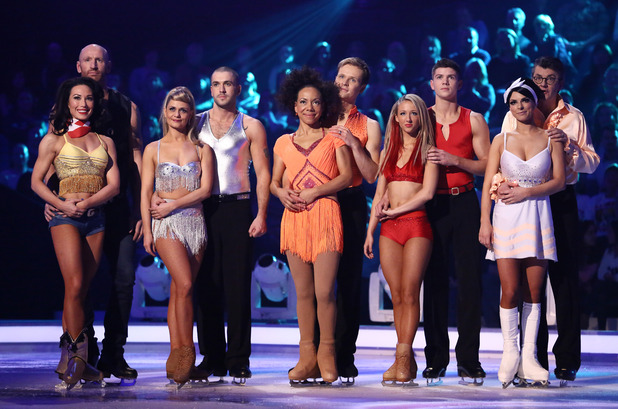 'Dancing on Ice' TV Programme, Elstree Studios, Hertfordshire, Britain - 20 Jan 2013 Gareth Thomas and Robin Johnstone, Shayne Ward and Maria Filippov, Oona King and Mark Hanretty, Luke Campbell and Jenna Harrison, Joe Pasquale and Vicky Ogden 20 Jan 2013
