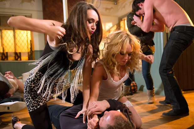 Hollyoaks: The McQueens brawl - Behind the scenes pictures