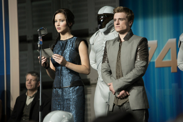 'The Hunger Games: Catching Fire' still: Jennifer Lawrence and Peeta Katniss