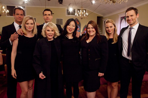 Drop Dead Diva cast with guest star Joan Rivers