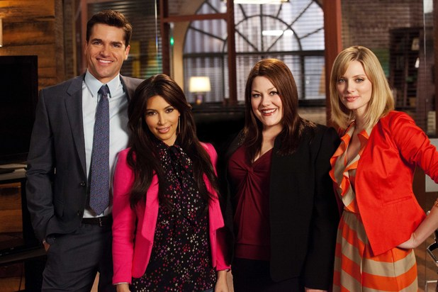 Drop Dead Diva cast with guest star Kim Kardashian