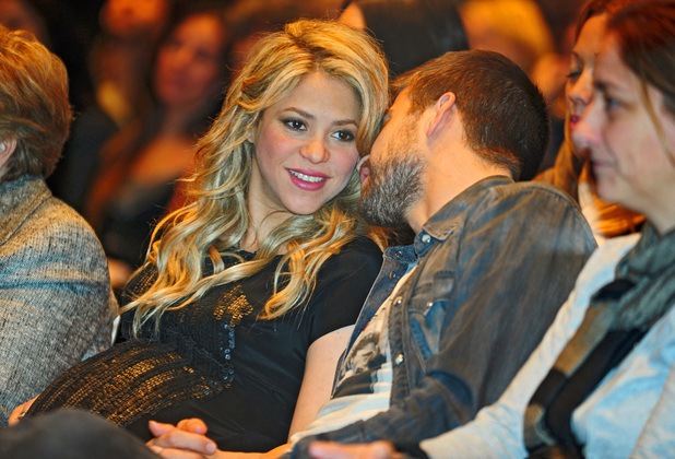 A pregnant Shakira and her boyfriend Gerard Pique attend the presentation of the book &#39;The Wind and Random&#39; written by Shakira&#39;s father, William MebarakFeaturing: Shakira, Gerard Pique