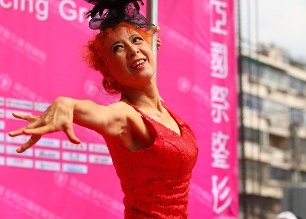 60-year-old Sun Fengqin pole dancing