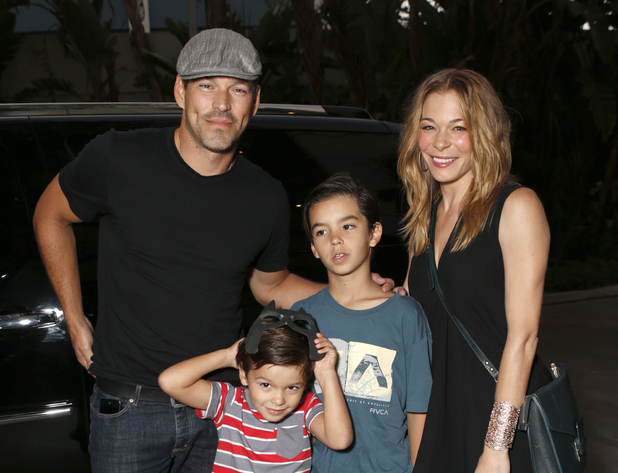 LeAnn Rimes with Eddie Cibrian and his sons Mason and Jake