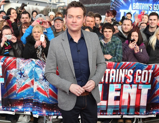 Stephen Mulhern arriving at the first round of auditions in Cardiff for Britain's Got Talent 2013