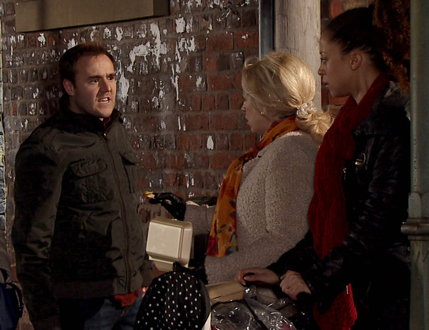 Tyrone bumps into Kirsty
