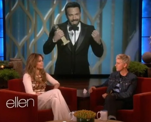 Jennifer Lopez appears on Ellen to chat about Ben Affleck