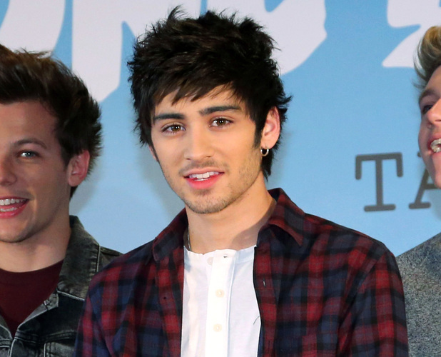 Zayn Malik at One Direction press conference in Japan