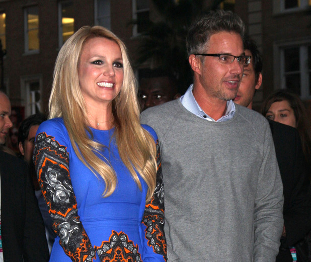 Britney Spears, Jason Trawick The 'X Factor' Season Two Premiere Screening and Handprint Ceremony held at Grauman's Chinese Theater Los Angeles, California - 11.09.12 Mandatory Credit: Nikki Nelson / WENN.com