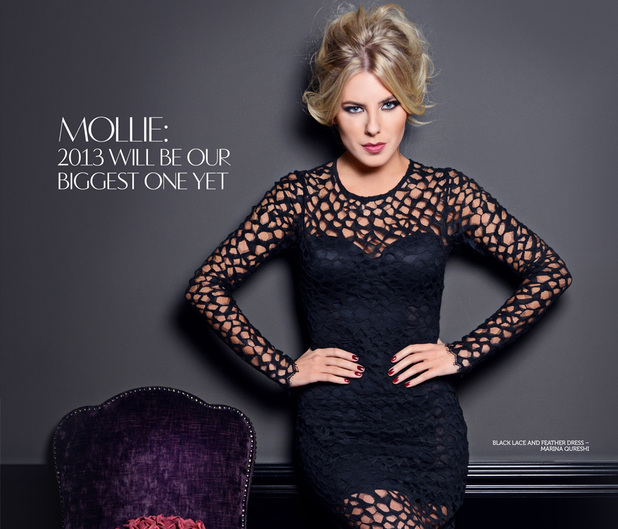 Mollie King of The Saturdays poses for Glamoholic.