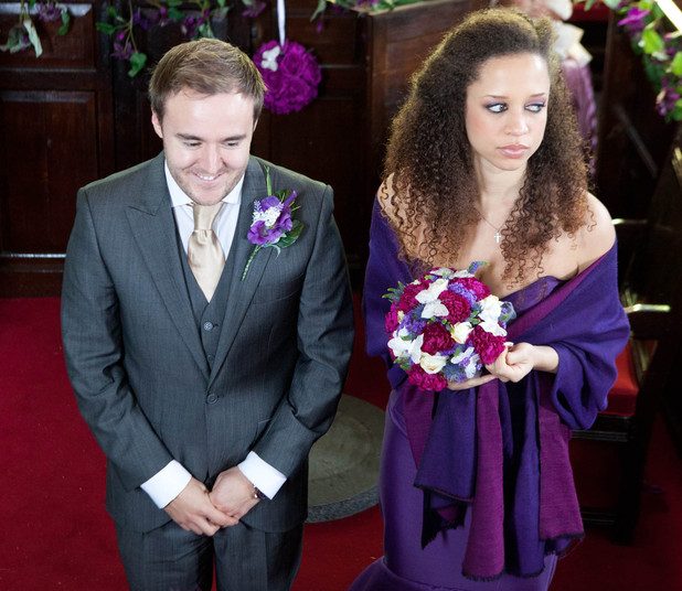 Tyrone and Kirsty at the altar