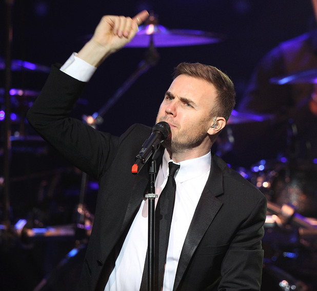 Editorial Use Only - Gary Barlow performs live at the Royal Albert Hall in London.