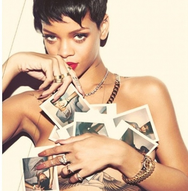 Rihanna posts lude pictures of herself on Instagram