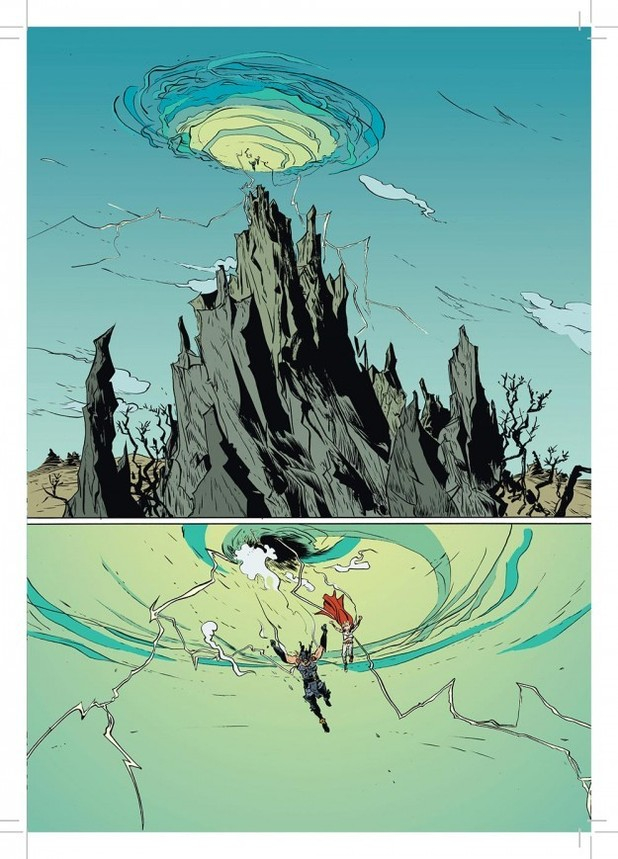 Paul Pope's 'Battling Boy' artwork