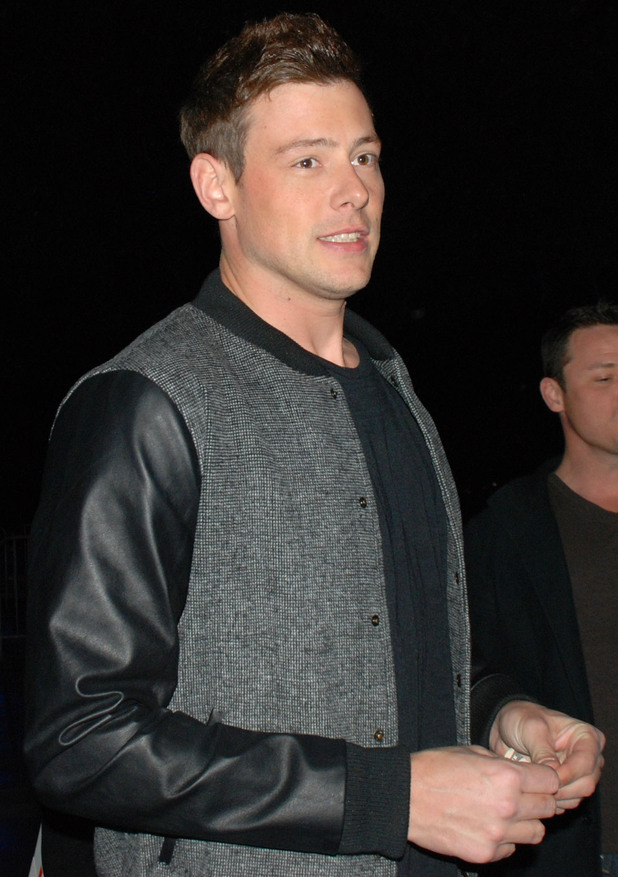 Cory Monteith arrives at the Staples Centre to watch the LA Lakers