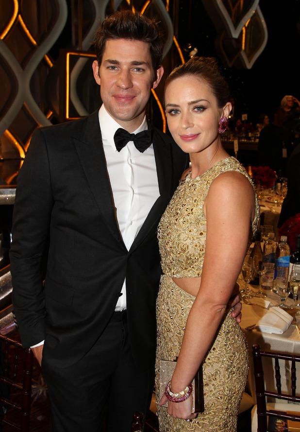 John Krasinski, Emily Blunt, Golden Globes 2013