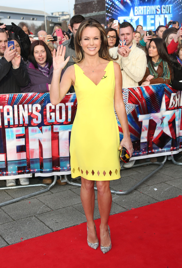 Amanda Holden arriving at the first round of auditions in Cardiff for Britain's Got Talent 2013