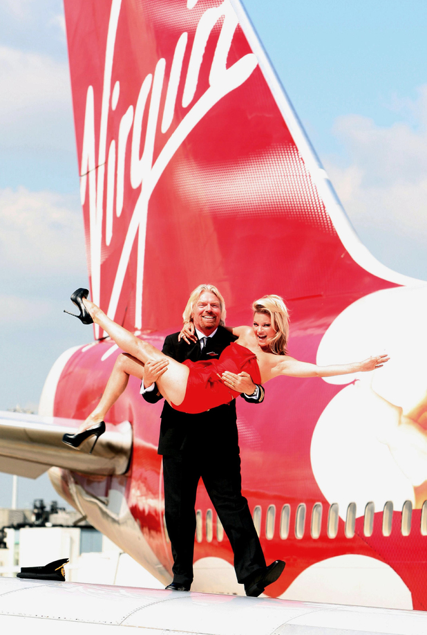 Kate Moss, Richard Branson,